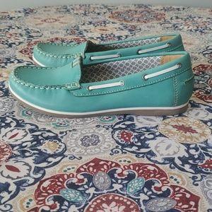 Naturalizer N5 Comfort Light Blue Loafer Shoes